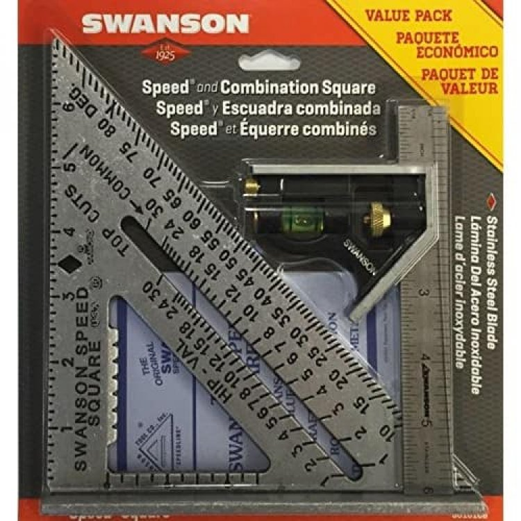 Swanson Tool Speed Square Layout Tool w/ Blue Book & Combination Square $10.14