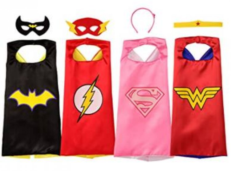 8-Pc. Rubie's Licensed Super Hero Cape Set: Girls' (4 Capes, 2 Masks & 2 Headbands) $13.39, Boys' (4 Capes, 3 Masks & 1 Chest Piece) $14.49 & More + Free S/H w/ Prime or FS on $25+