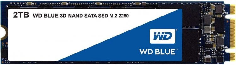2TB WD Blue 3D NAND M.2 2280 SATA III Internal Solid State Drive $176 + Free Shipping