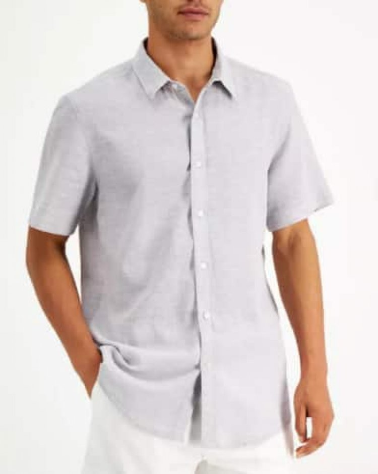 Men's Apparel: Inc. Split Neck T-Shirt $6, Sun + Stone Linen Shirt $8 & More + Free Orders $25+