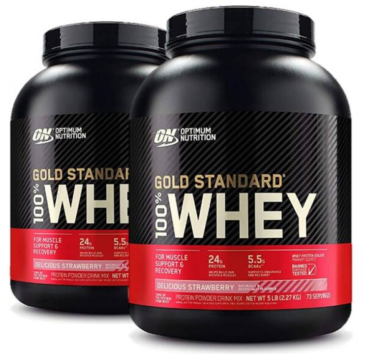 5-Lb Optimum Nutrition100% Whey Protein Powder (Delicious Strawberry) 2 for $62.95 ($31.48 each) w/ S&S + Free Shipping