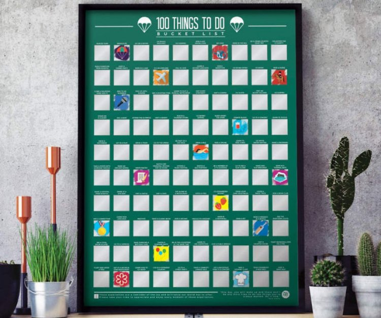 100 Things Bucket List Scratch Off Poster