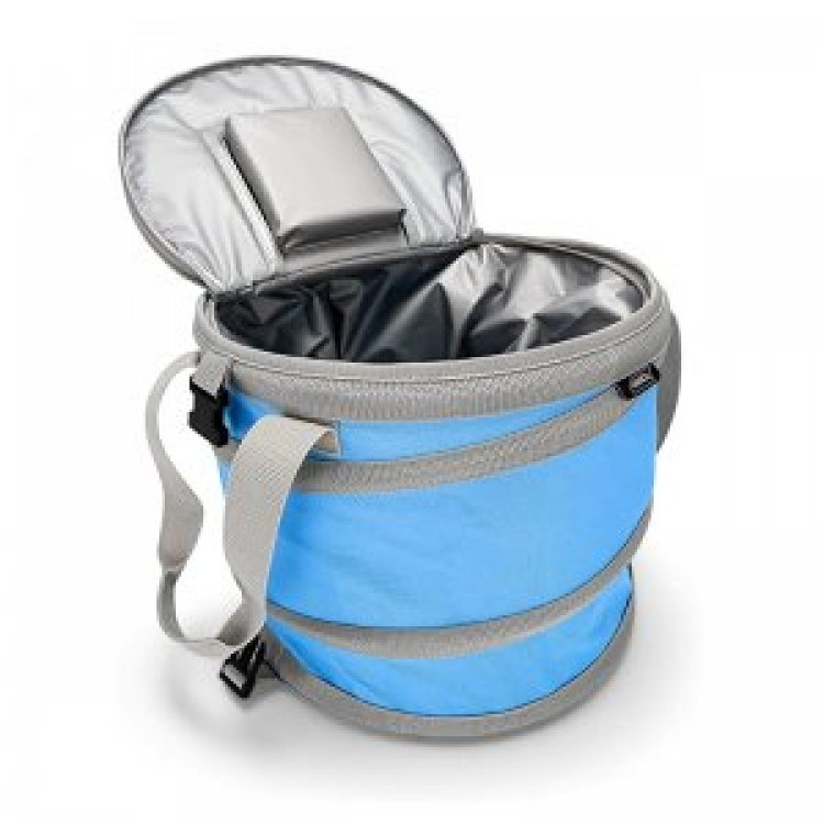9020store Pop-Up Cooler - Lightweight, Waterproof and Insulated Pops Open for Use and Collapses Flat for Storage | Perfect for the Beach, Pool, Camping, Tailgating and Travel - Blue