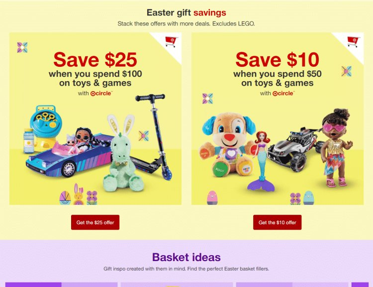 Target: Tons of toys on sale + save an additional 10 off 50 or 25 off 100 purchase!