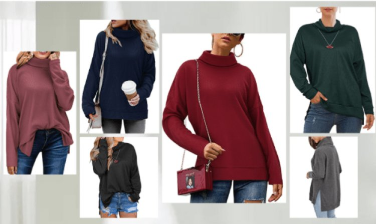 Amazon: KILIG Women's Turtleneck Top Sweater $6.99...