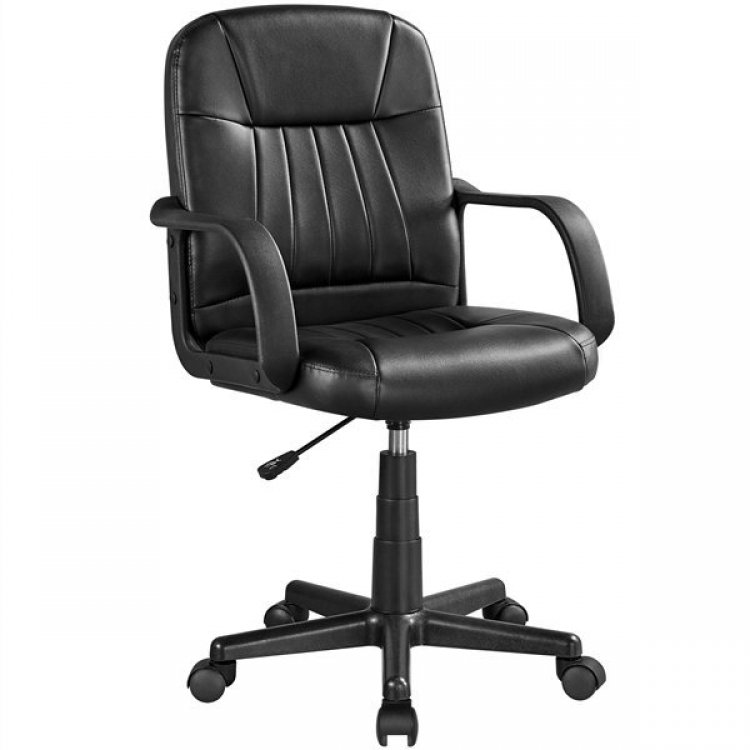 Walmart: SmileMart Adjustable Swivel Faux Leather Executive Office Chair for ONLY $49.99 (Reg. $89.00)