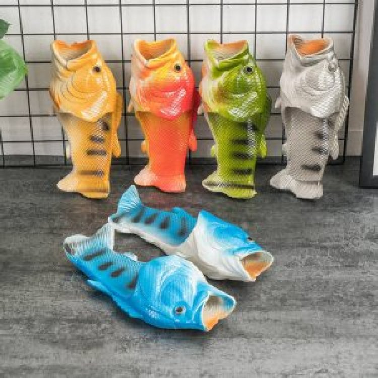 9020shoes For men and women shoes Fish slippers Flip flop Funny slippers P04